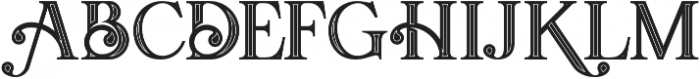 Amadeust Inline otf (400) Font UPPERCASE