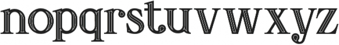 Amadeust Inline otf (400) Font LOWERCASE
