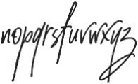 Amanda Santiago Alternate Slant Regular otf (400) Font LOWERCASE