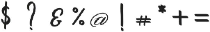 Amarillo regular script otf (400) Font OTHER CHARS