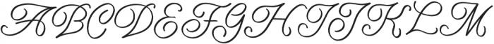 Amarillo regular script otf (400) Font UPPERCASE