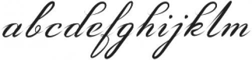 Amarillo regular script otf (400) Font LOWERCASE