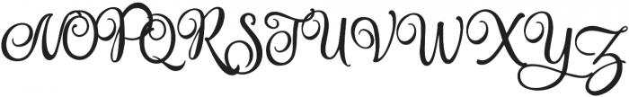 Amastery Script otf (400) Font UPPERCASE