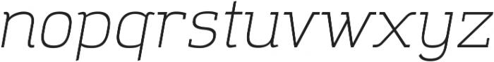 Amazing Grotesk Light Italic ttf (300) Font LOWERCASE