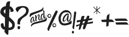 Amazone otf (400) Font OTHER CHARS
