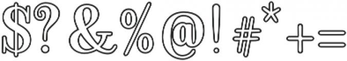 Ambar Serif Outline otf (400) Font OTHER CHARS