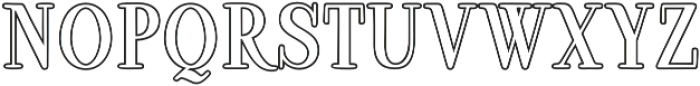 Ambar Serif Outline otf (400) Font UPPERCASE