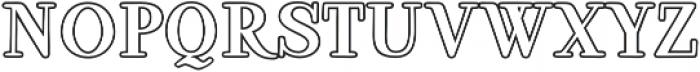 Ambar Serif Outline otf (400) Font LOWERCASE