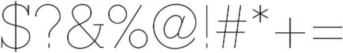 Ambassador Plus Slab otf (100) Font OTHER CHARS