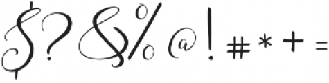Amberlight Regular otf (300) Font OTHER CHARS