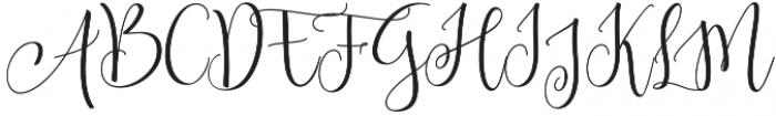 Amberlight Regular otf (300) Font UPPERCASE