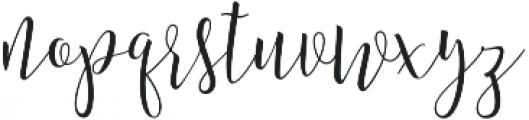 Amberlight Regular otf (300) Font LOWERCASE