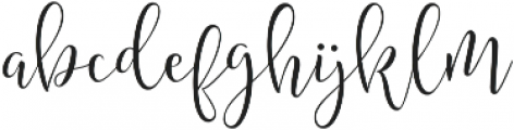 Amberlight Regular ttf (300) Font LOWERCASE