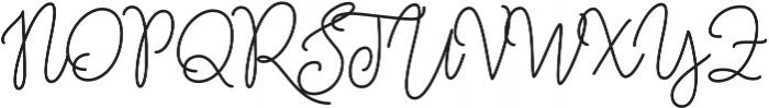 Amberline otf (400) Font UPPERCASE