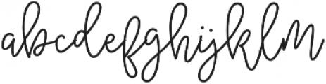 Amberline otf (400) Font LOWERCASE