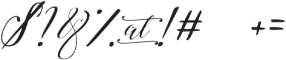 Amberlyn Script Slant otf (400) Font OTHER CHARS