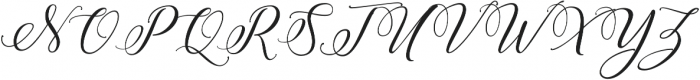 Amberlyn Script Slant otf (400) Font UPPERCASE