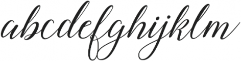 Amberlyn Script Slant otf (400) Font LOWERCASE