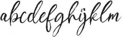 Ambitions Regular otf (400) Font LOWERCASE