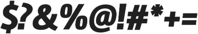 Amelia Oblicua Black otf (900) Font OTHER CHARS