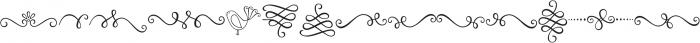 Amelia Ornaments otf (400) Font LOWERCASE