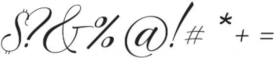Amelia Script Fine Version ttf (400) Font OTHER CHARS
