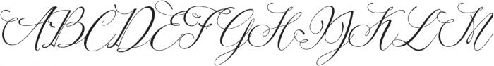 Amelia Script Fine Version ttf (400) Font UPPERCASE