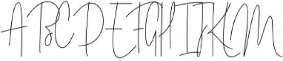 Amelia Signature Regular otf (400) Font UPPERCASE