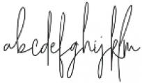 Amelia Signature Regular otf (400) Font LOWERCASE