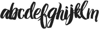 Amelian Script otf (400) Font LOWERCASE