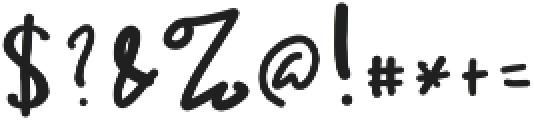 Ameliana otf (400) Font OTHER CHARS