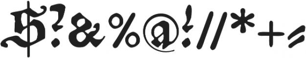 Amerbach883 otf (400) Font OTHER CHARS