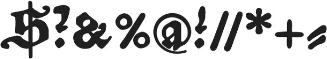 Amerbach883 otf (700) Font OTHER CHARS
