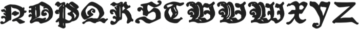 Amerbach883 otf (700) Font UPPERCASE