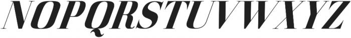 America Italic otf (400) Font UPPERCASE