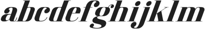 America Italic otf (400) Font LOWERCASE