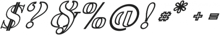 America Stencil OutliItalic otf (400) Font OTHER CHARS