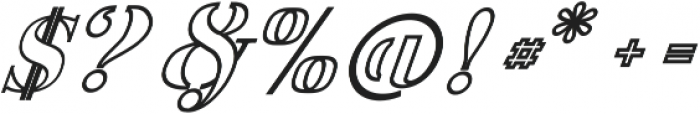 America Stencil OutliItalic ttf (400) Font OTHER CHARS