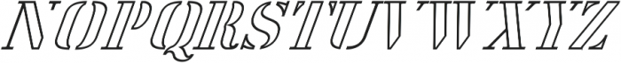 America Stencil OutliItalic ttf (400) Font UPPERCASE
