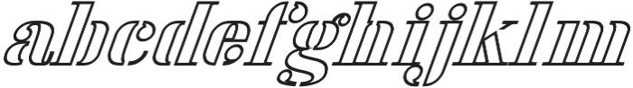 America Stencil OutliItalic ttf (400) Font LOWERCASE