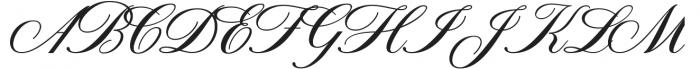 American Oak Script otf (400) Font UPPERCASE