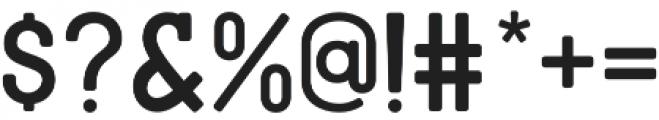 American Oak Slab otf (400) Font OTHER CHARS