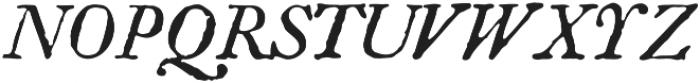 Americanus Italics Regular otf (400) Font UPPERCASE