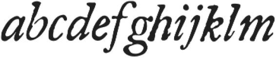 Americanus Italics Regular otf (400) Font LOWERCASE