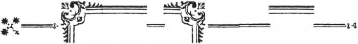 Americanus Ornaments Regular otf (400) Font LOWERCASE