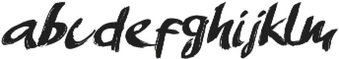 AmeryBrush otf (400) Font LOWERCASE