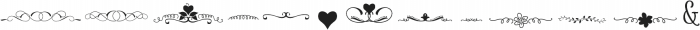 Amethyst dingbats ttf (400) Font UPPERCASE