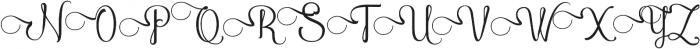 AmethystCapSwash ttf (400) Font UPPERCASE