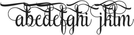 AmethystD ttf (400) Font LOWERCASE