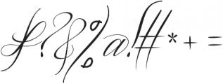 Amfibi Script Regular otf (400) Font OTHER CHARS
